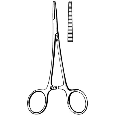Extra Delicate Halsted Mosquito Forceps - Straight 5""