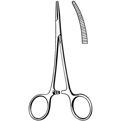 """Extra Delicate Halsted Mosquito Forceps - Curved 5"""""""